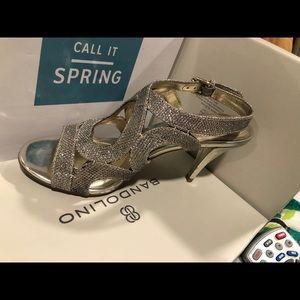 Silver glider heels